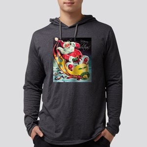 Santa Claus Rocket Long Sleeve T-Shirt