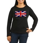 Union Jack Women's Long Sleeve Dark T-Shirt