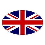 Union Jack Sticker (Oval)