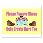 Remove Shoes Baby Crawling Small Poster