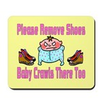 Remove Shoes Baby Crawling Mousepad