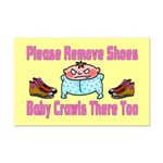 Remove Shoes Baby Crawling Mini Poster Print