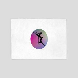Silhouette Dancers 5'x7'Area Rug