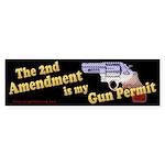 2nd Amendment Gun Permit Bumper Sticker (50 pk)
