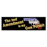 2nd Amendment Gun Permit Bumper Sticker (10 pk)
