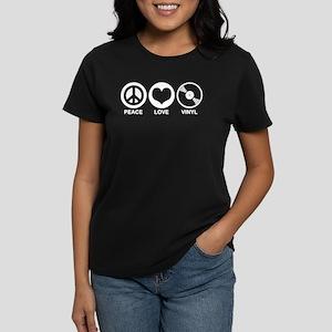 Peace Love Vinyl Women's Dark T-Shirt
