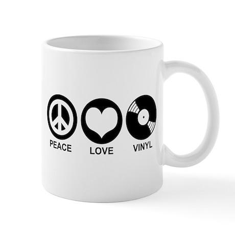Peace Love Vinyl Mug