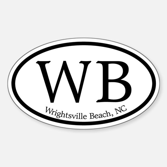 WB Wrightsville Beach Oval Oval Decal