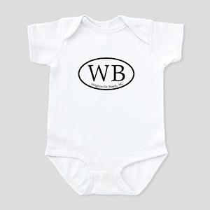 WB Wrightsville Beach Oval Infant Bodysuit