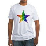 RAINBOW FLAG Fitted T-Shirt