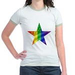 RAINBOW FLAG Jr. Ringer T-Shirt