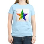 RAINBOW FLAG Women's Pink T-Shirt