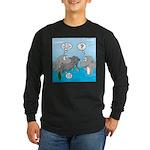 Shark Knight Long Sleeve Dark T-Shirt