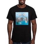 Shark Knight Men's Fitted T-Shirt (dark)