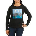 Shark Knight Women's Long Sleeve Dark T-Shirt