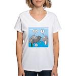 Shark Knight Women's V-Neck T-Shirt