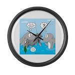 Shark Knight Large Wall Clock