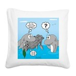 Shark Knight Square Canvas Pillow