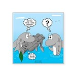 Shark Knight Square Sticker 3