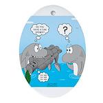 Shark Knight Oval Ornament