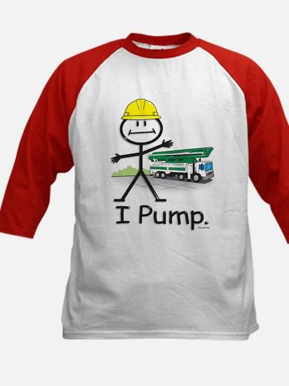 Concrete Pumping Kids Baseball Jersey