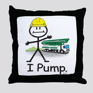 Concrete Pumping Throw Pillow