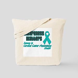 Cervical Awareness Matters Tote Bag