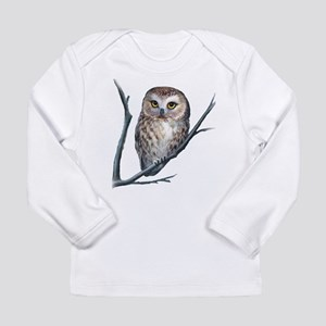 saw-whet owl dark shirt Long Sleeve T-Shirt