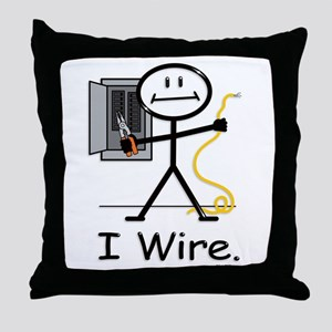 BusyBodies Electrician Throw Pillow