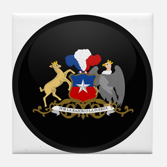 Coat of Arms of Chile Tile Coaster