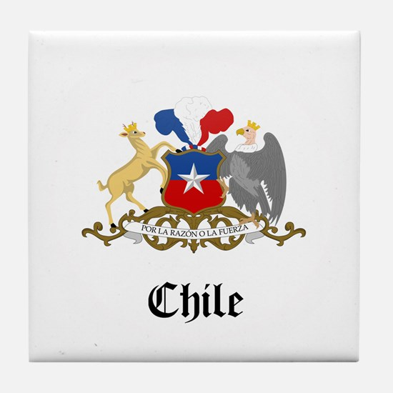 Chilean Coat of Arms Seal Tile Coaster