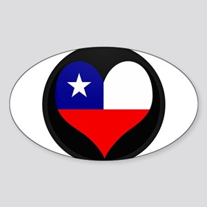 I love Chile Flag Oval Sticker