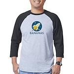 The Iconic Bananas Rocket Ship Mens Baseball Tee