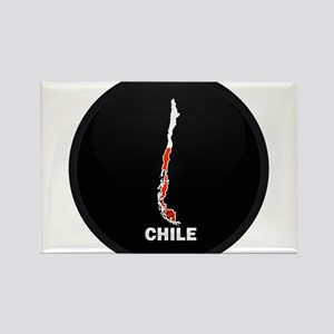 Flag Map of Chile Rectangle Magnet