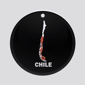 Flag Map of Chile Ornament (Round)