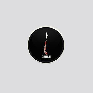 Flag Map of Chile Mini Button