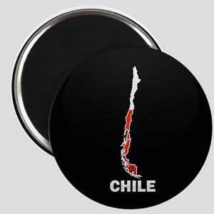 Flag Map of Chile Magnet