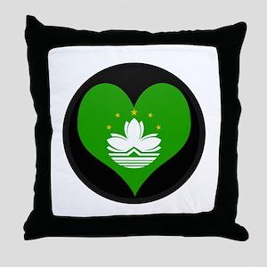 I love China MACAU Flag Throw Pillow