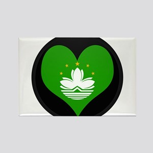 I love China MACAU Flag Rectangle Magnet