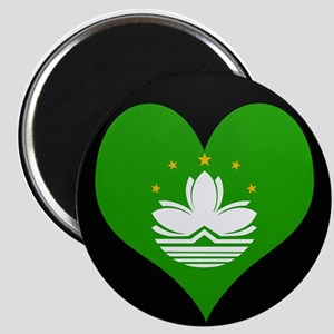 I love China MACAU Flag Magnet