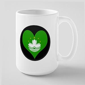 I love China MACAU Flag Large Mug