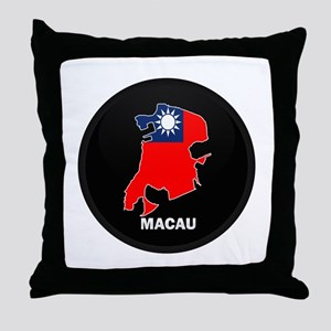 Flag Map of China MACAU Throw Pillow