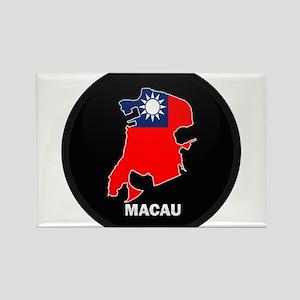 Flag Map of China MACAU Rectangle Magnet