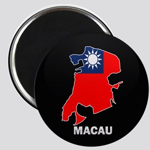 Flag Map of China MACAU Magnet