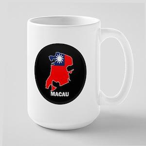 Flag Map of China MACAU Large Mug