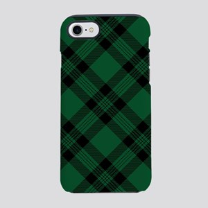 Green Plaid Pattern iPhone 7 Tough Case