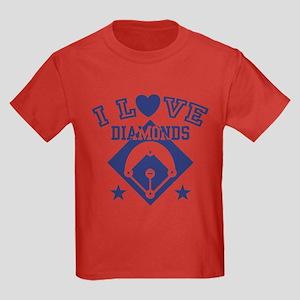 I Love Diamonds Kids Dark T-Shirt