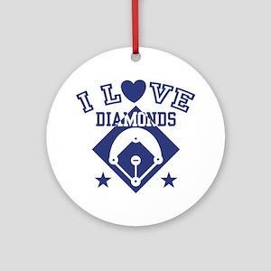 I Love Diamonds Ornament (Round)