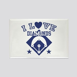 I Love Diamonds Rectangle Magnet