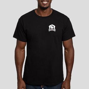Weiner Dog Pirate Men's Fitted T-Shirt (dark)
